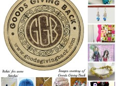 Goods Giving Back. Shop Handmade! Featured by Itchin' for some Stitchin'