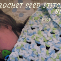 How to Crochet a Seed Stitch Baby Blanket (Free Pattern)