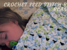 Crochet Seed Stitch Baby Blanket. FREE Pattern. http://www.itchinforsomestitchin.com