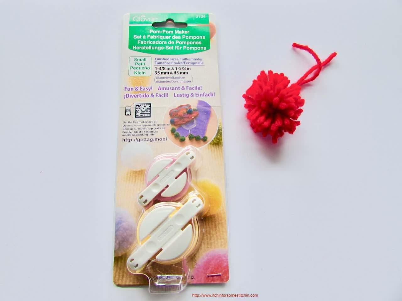 Clover pom pom makers in package by http://www.itchinforsomestitchin.com