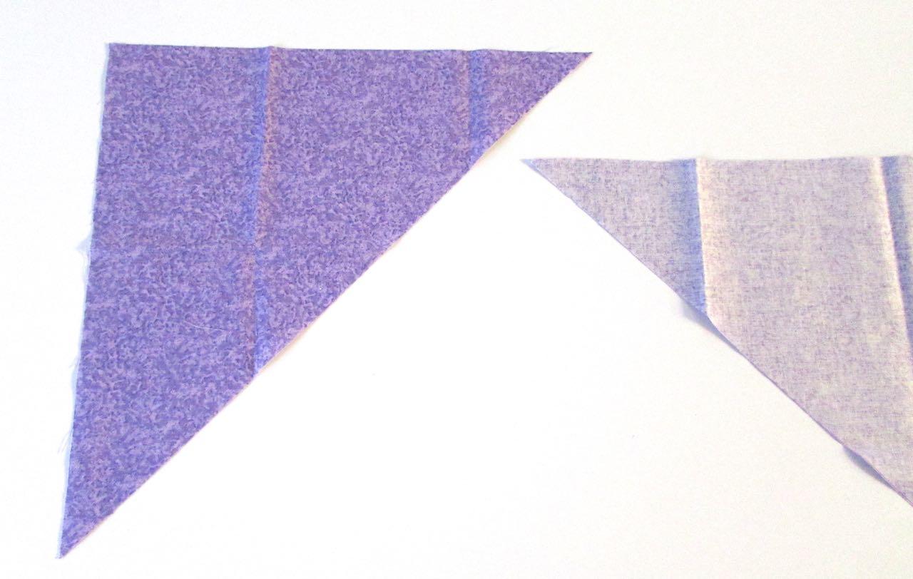 Triangles for bias tape by www.itchinforsomestitchin.com
