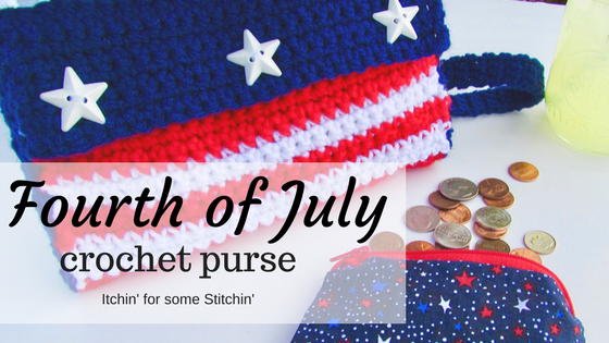 Crochet Fourth of July Purse Pattern by http://www.itchinforsomestitchin.com