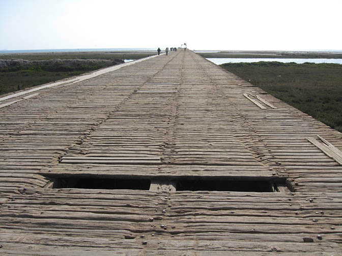Boardwalk in Pisco, Peru