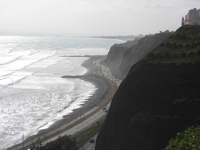 Miraflores beach in Lima, Peru