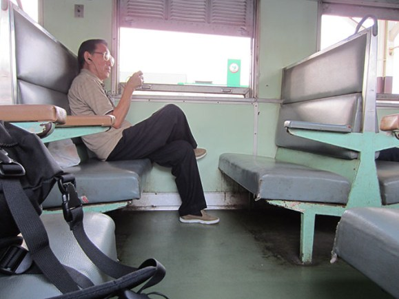 The third class seats on Thailand train