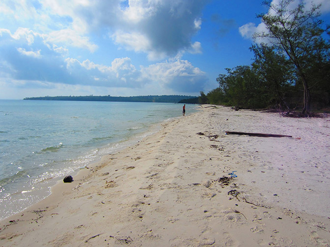 The beach of Koh Rong island.