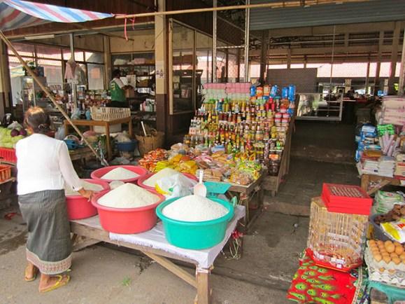 Pakse, Laos food vendor