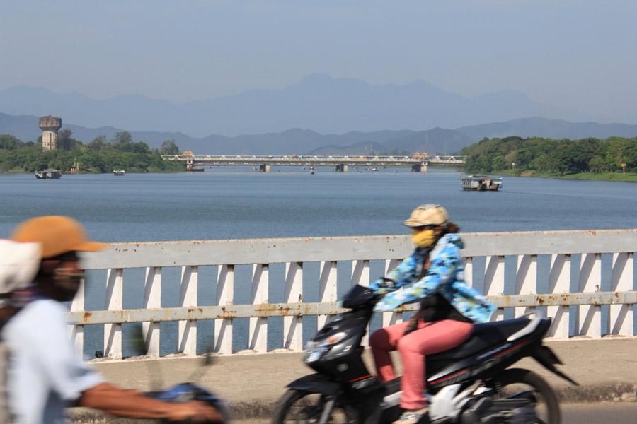 Huong River or Perfume River, Hue, Vietnam