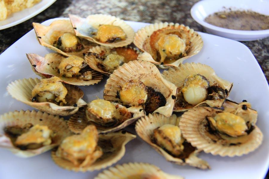 A plate of scallops in Mui Ne, Vietnam