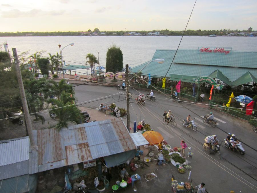 Van Tram Guesthouse view - Vinh Long, Vietnam
