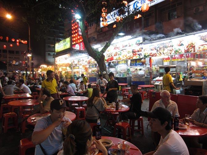 Jalan Alor night market in Kuala Lumpur, Malaysia