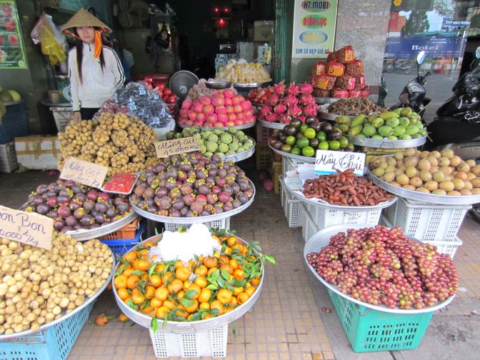 Fruit stand in Can Tho, Vietnam