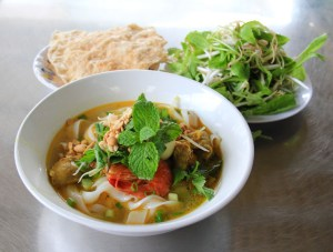 A bowl of Mi Quang - Vietnamese Food