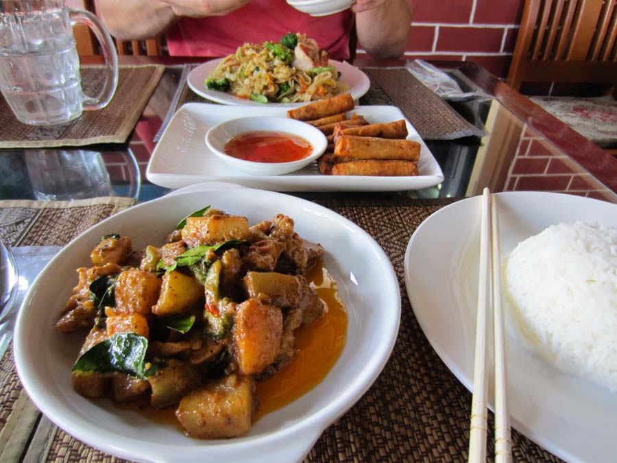 Thai food in Mandalay at Rainforest restaurant