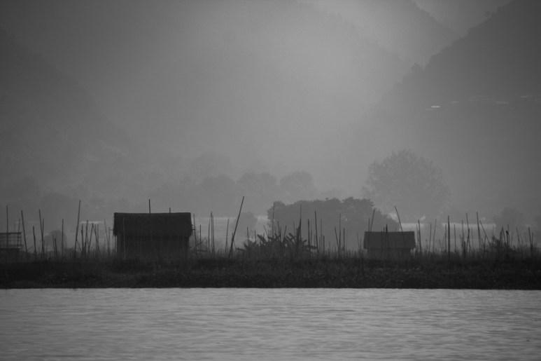 Inle Lake, Myanmar foggy morning