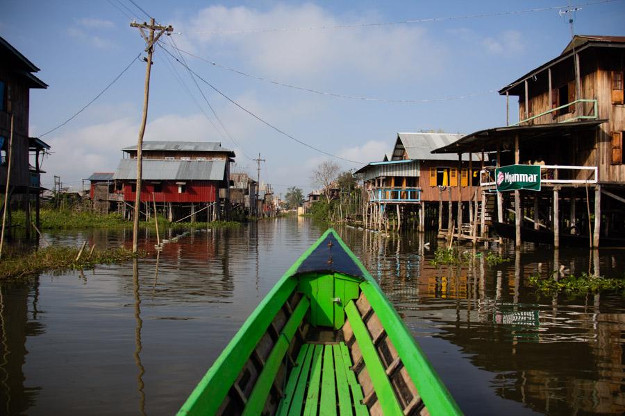 Small village on Inle Lake, Myanmar