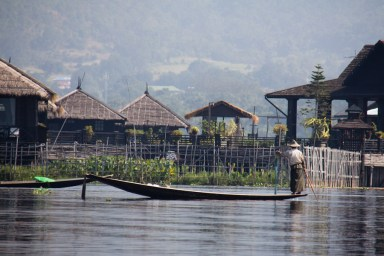 Resort on Inle Lake, Myanmar