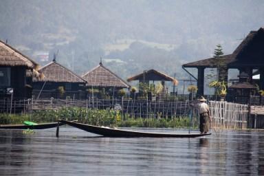 Resort on Inle Lake, Myanmar