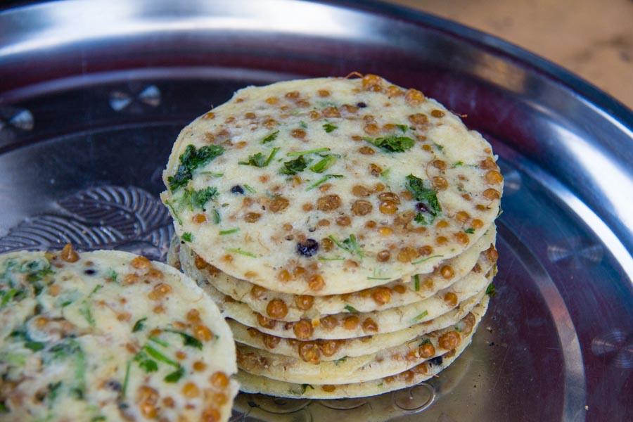 Burmese style pancakes in Myanmar
