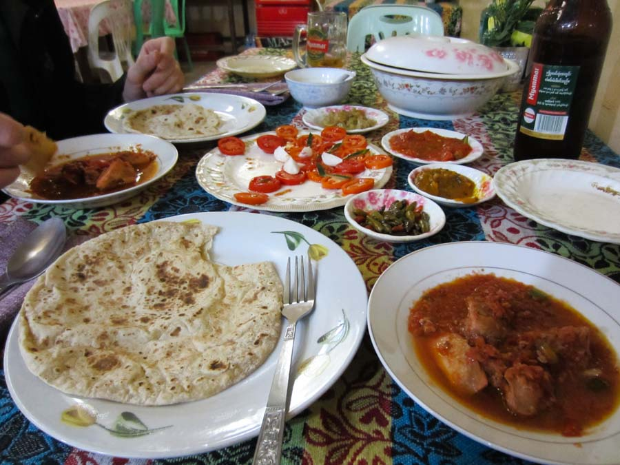 Indian Food in Inle Lake, Myanmar