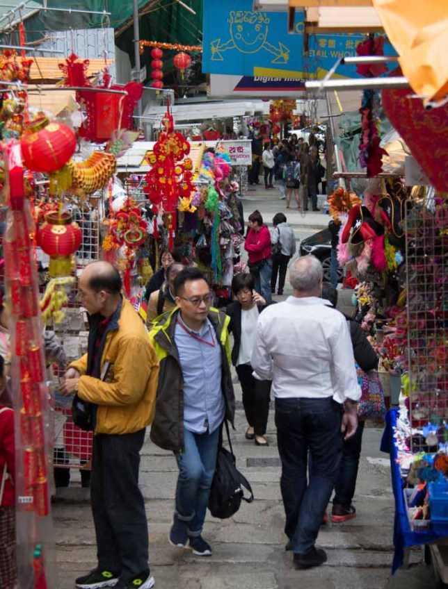 Costume market in Hong Kong