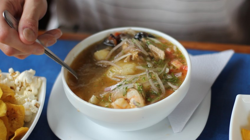 seafood version of encebollado