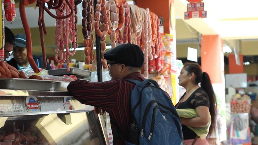 Quito Central Market sausage