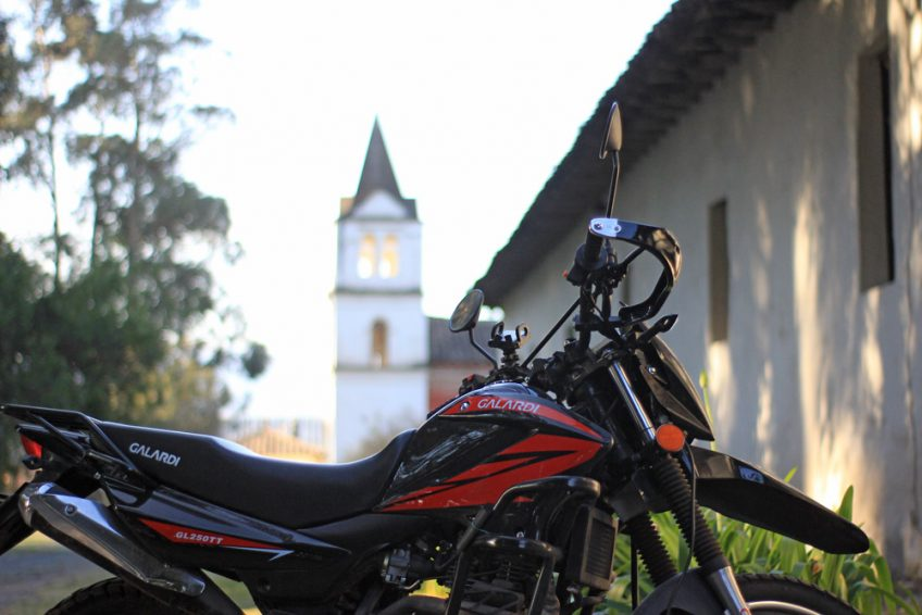 my motorcycle in Ecuador