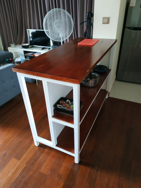 Custom made kitchen island in Cambodia
