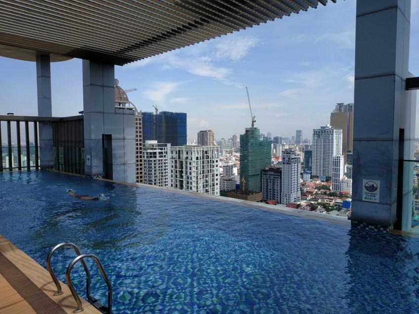 infinity pool in Cambodia