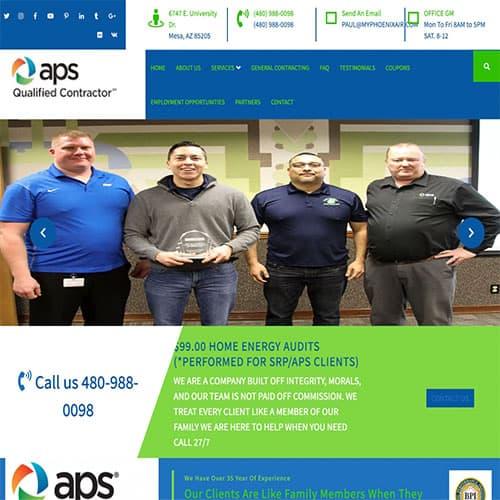 Convenient home services website landing page