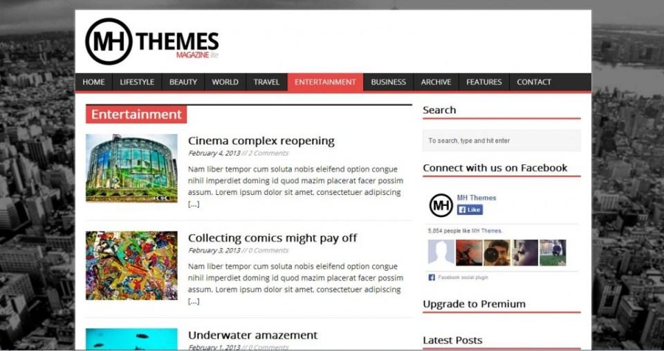 Free wordpress themes MH Magazine lite