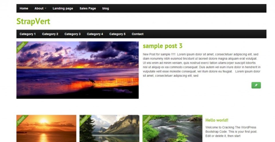 free wordpress theme StarpVert