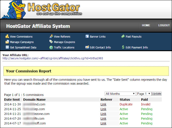 affiliate marketing for dummies hostgator commission