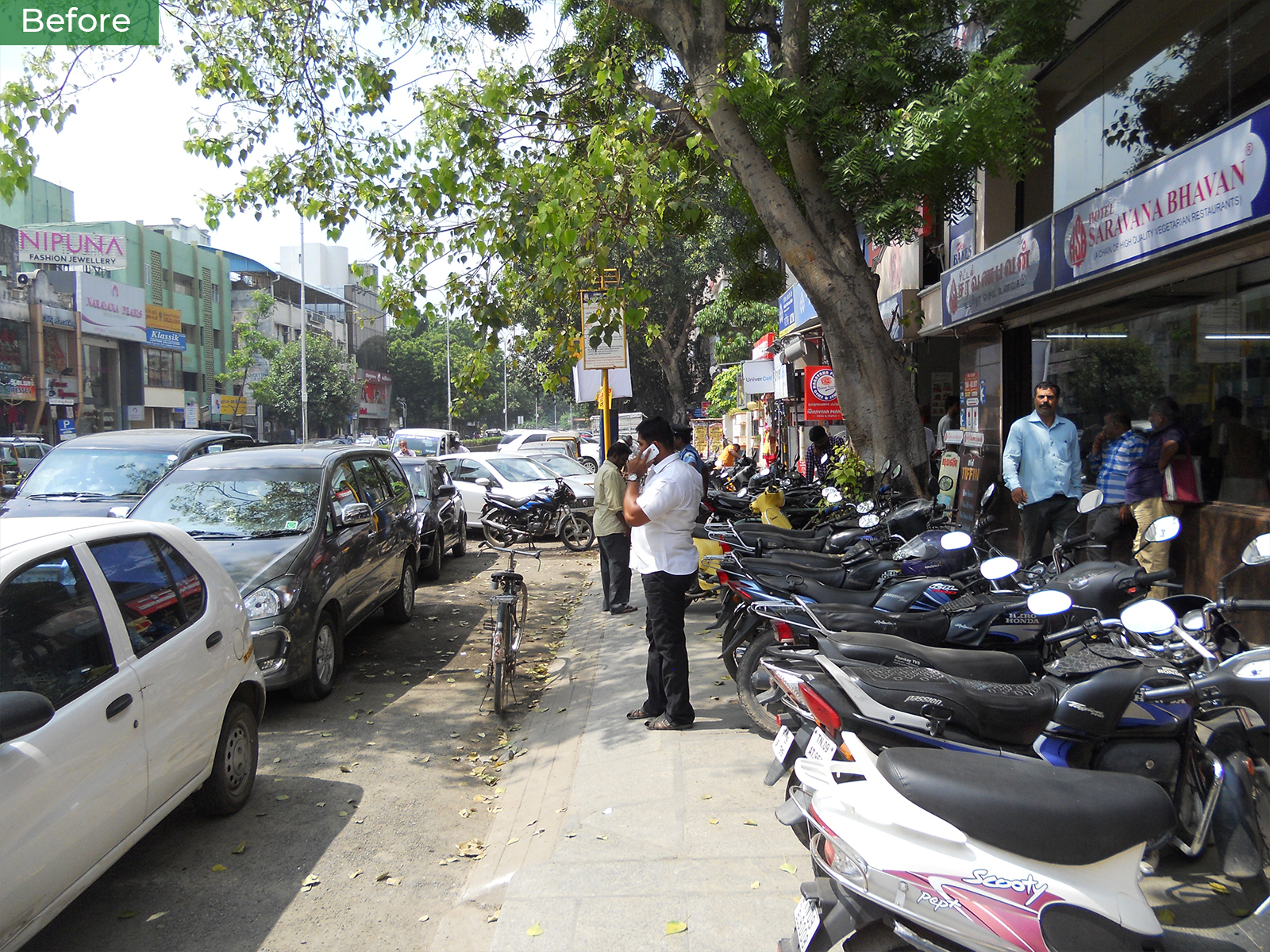 Before-The Pondy Bazaar Pedestrian Plaza