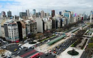 The 9 de Julio BRT corridor