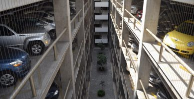 Massive parking garages in Mexico City huge amounts of city space at the expense of other uses, such as housing.