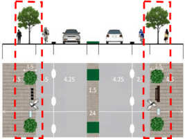 Fig.5a Illustration of organized facility corridor design and implementation