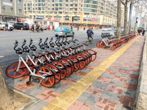 Designated parking areas could help create order | Image credit: ITDP China