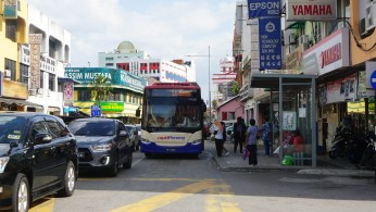 Most of the local residents still use their car for their mobility despite the city's BRT system, Rapid Penang.