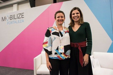 ITDP Brazil Director, Clarisse Cunha Linke, interviewed Carolina Bezerra, the First Lady of Fortaleza about street design that incorporates the safety of everyone, including children.