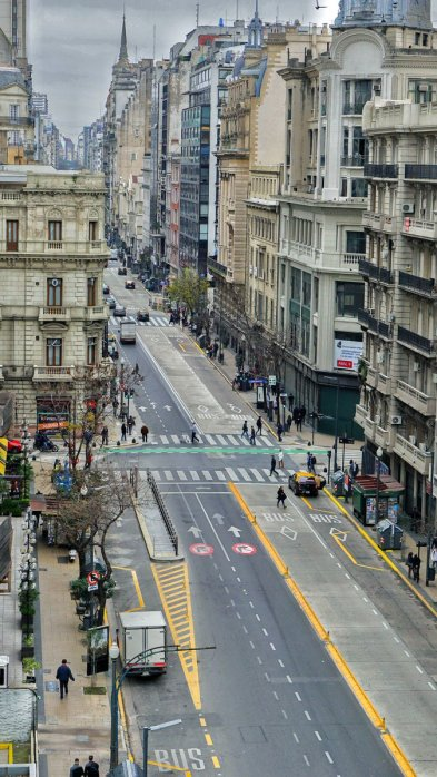 Complete streets, with priority to pedestrians and cyclists has become an important aspect of Buenos Aires urban development.