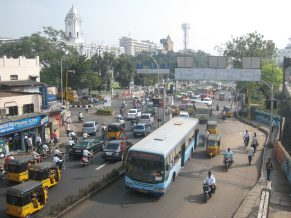 Busy traffic in Chennai