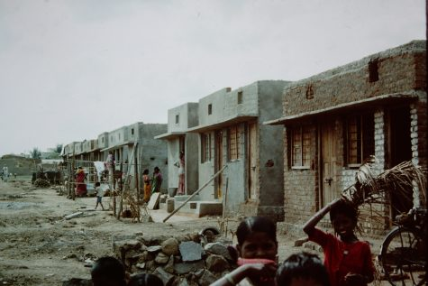 Informal housing in Madras (Chennai), India slum