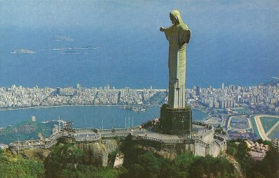Cristo Redentor, or Christ the Redeemer, was completed in 1931 and overlooks the city of Rio de Janeiro.