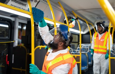 Sanitizing and cleaning transit networks keeps passengers and employees safe.