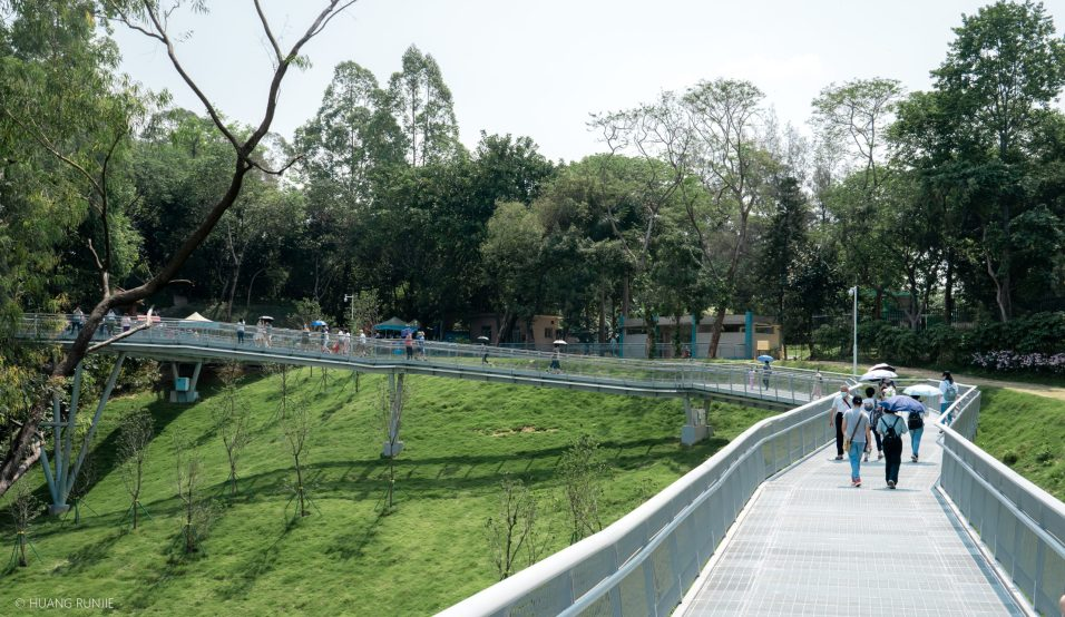The pathway is elevated at some points, allowing for pedestrians to glimpse many of the sites it passes.