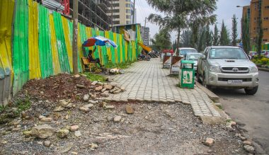 With increased walking, sidewalks are a crucial piece of infrastructure for many in Addis Ababa.