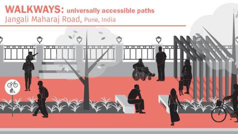 The most basic feature of urban mobility is a complete, continuous and safe network of walkways. These walkways can take many forms, but they must provide protection from motor vehicles and be accessible to all people, including babies, toddlers and their caregivers, as well as people with disabilities.
