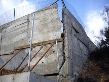 Hundimiento de muros de contencin ITE Arquitectos
